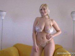 Siri Big Boobs Blonde Bikini Young Chubby