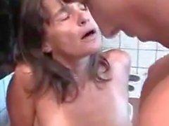 Fucking my best friends mom in the kitchen