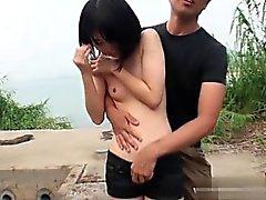 Wet girl anal gape
