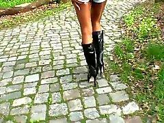 LGH - Saksan Tamia - Outdoor Boots und Glanz strumpfhose