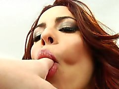 Rimjob loving redhead gets ass licked