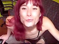 Skinny German Girl - ballplay, sucking & fucking
