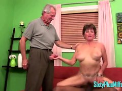 Granny Sucks Cock In Front Of Hubby