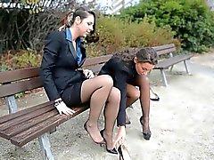 Nackt in sekretärin strümpfen geile Kleine reizvolle